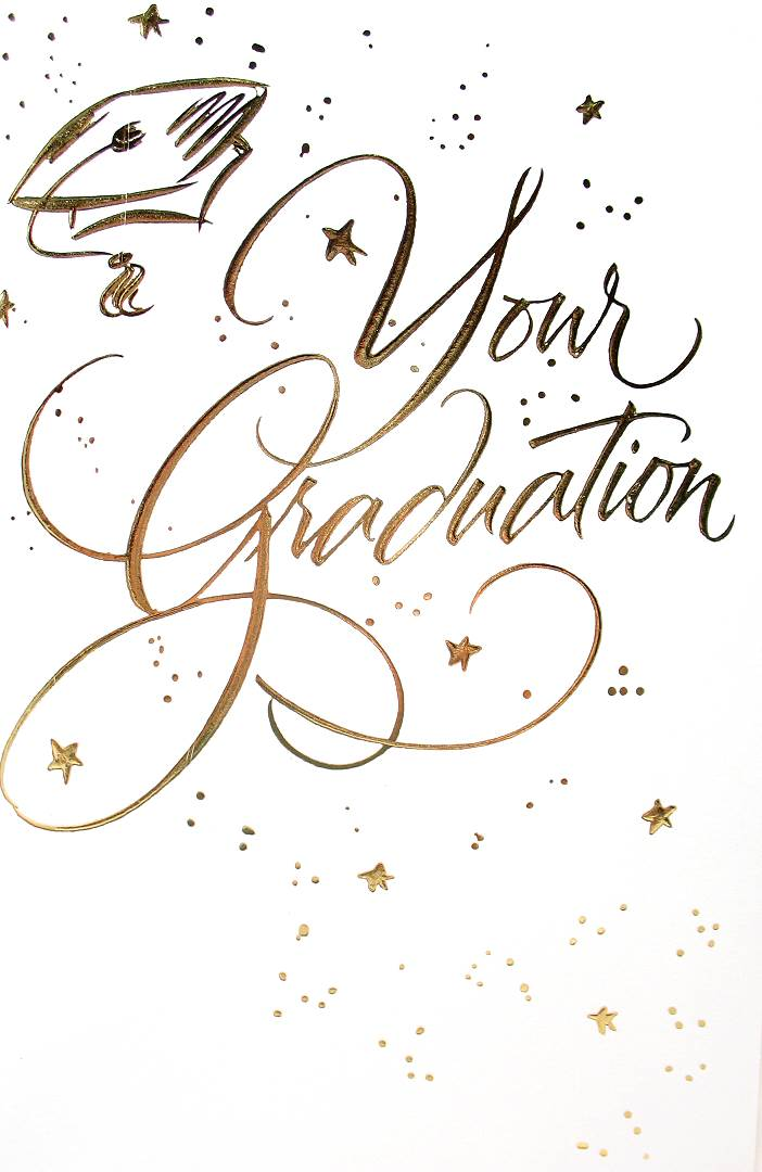 number gr002 front of card your graduation